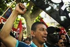 Protesta telefonica Valencia, spain.